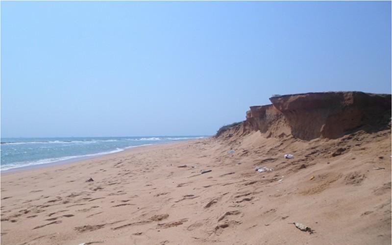 Érosion côtière à Baguida, périphérie de Lomé